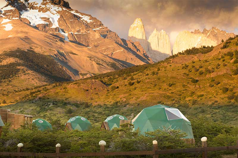 Hoteles en Chile.Ecocamp Patagonia