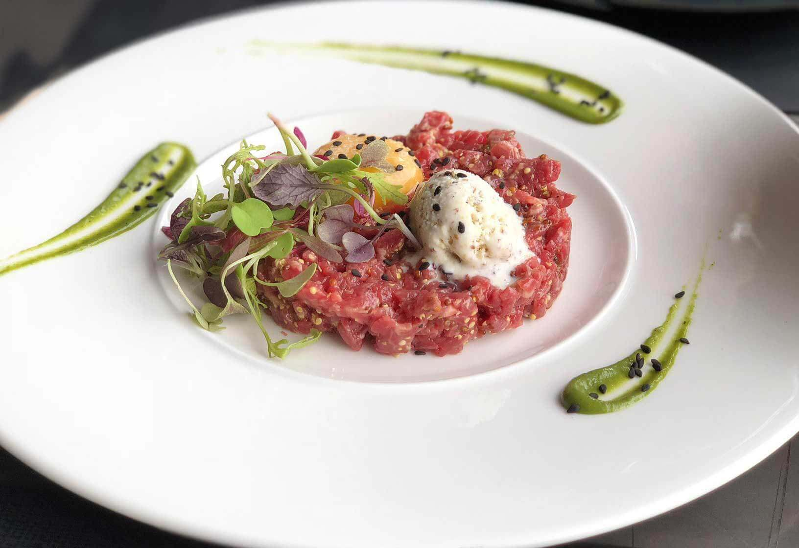 steak tartar Hotel Vivood